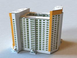 Hospital Building Construction 3d model
