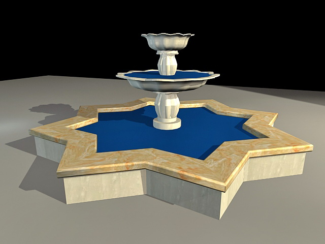 Courtyard Fountain 3d model