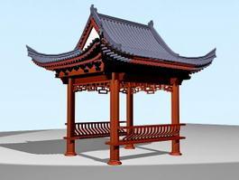 Chinese Garden Pavilion 3d model