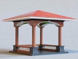 Square Pavilion 3d model