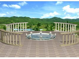 Landscape Architecture Design 3d model