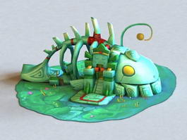 Cartoon Fish House 3d model