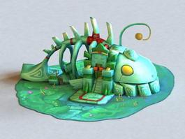 Cartoon Fish House 3d model