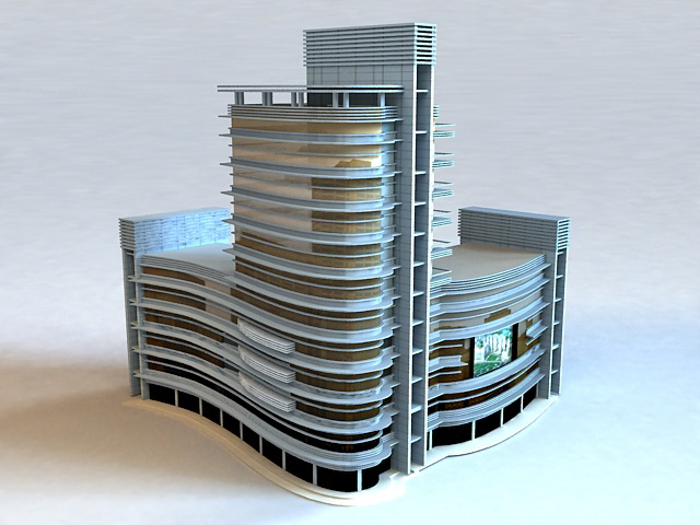 Commercial Shopping Mall Design 3d model