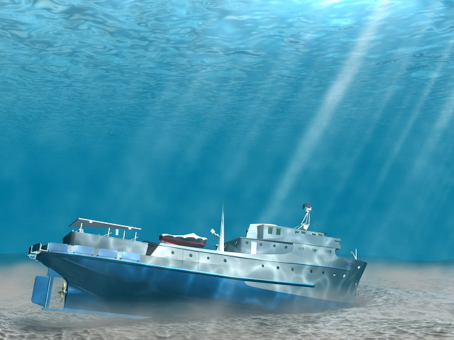 Underwater Shipwreck 3d model