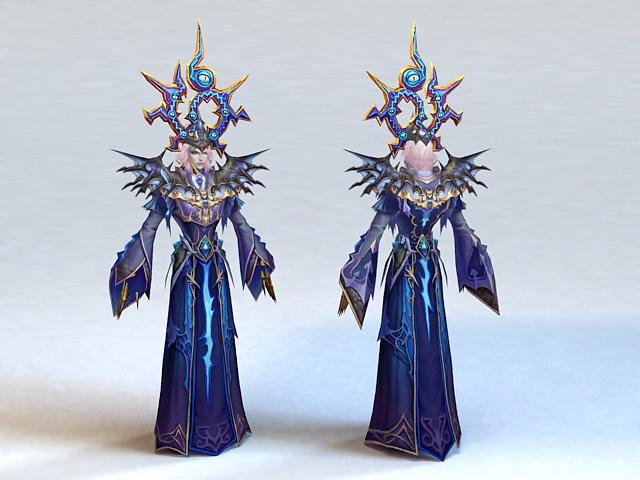 High Elf Priest Male 3d model
