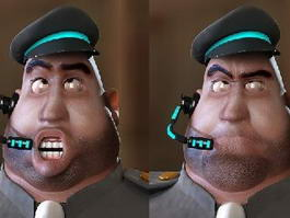 Fat Cop Cartoon 3d model