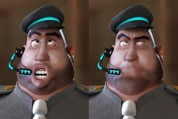 Fat Cop Cartoon 3d model