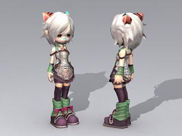Anime Cat Girl 3d model
