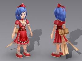 Anime Girl Maid 3d model
