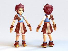 Emo Anime Boy 3d model
