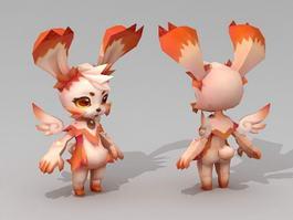 Anime Rabbit Character 3d model