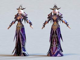 Beautiful Sorceress 3d model