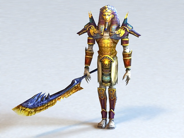 Ancient Egyptian Warrior Queen 3d Model 3ds Max Files Free