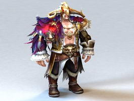 Barbarian Man Warrior 3d model