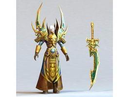 Assassin Knight 3d model
