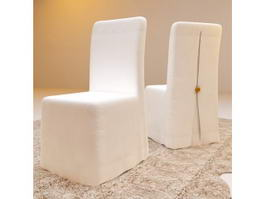 Fabric Dining Chairs 3d model