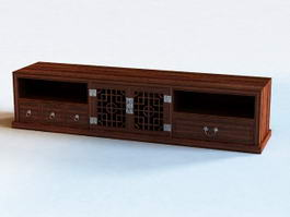 TV Bench with Drawers 3d model