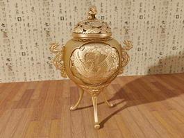 Brass Incense Burner 3d model