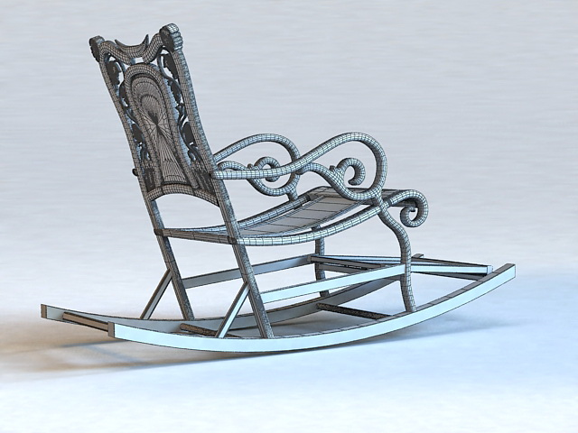 Antique Rocking Chair 3d Model 3ds Max Files Free Download