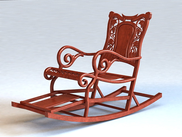 Sehr Antique Rocking Chair 3d model 3ds Max files free download  GY31