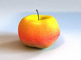 Red and Yellow Apple 3d model
