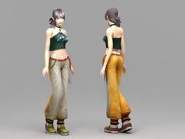 Pretty Asian Girl 3d model