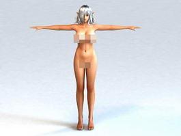 Anime Elf Girl Body 3d model