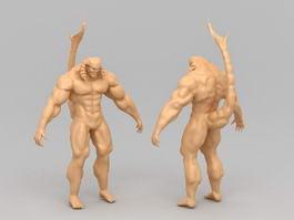 Scorpion Tail Demon 3d model
