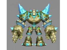 Golem Stone Concept 3d model