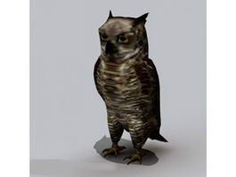 Horned Owl 3d model