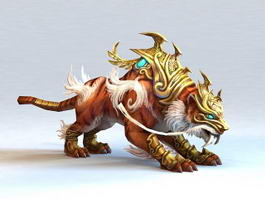 Tiger Mythical Creature 3d model