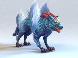 Demon Wolf 3d model