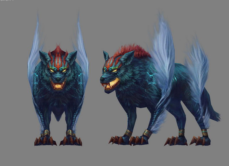 Demon Wolf 3d Model 3ds Max Object Files Free Download