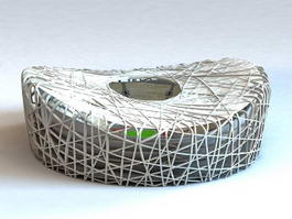 Birds Nest Olympic Stadium 3d model