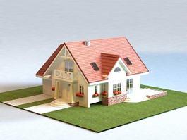 Small Suburban House 3d model