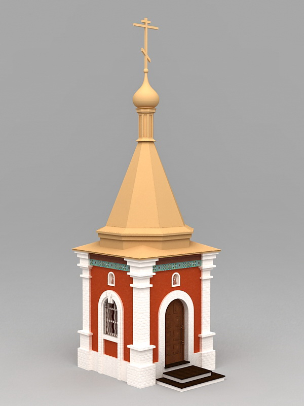 Small Country Church 3d model