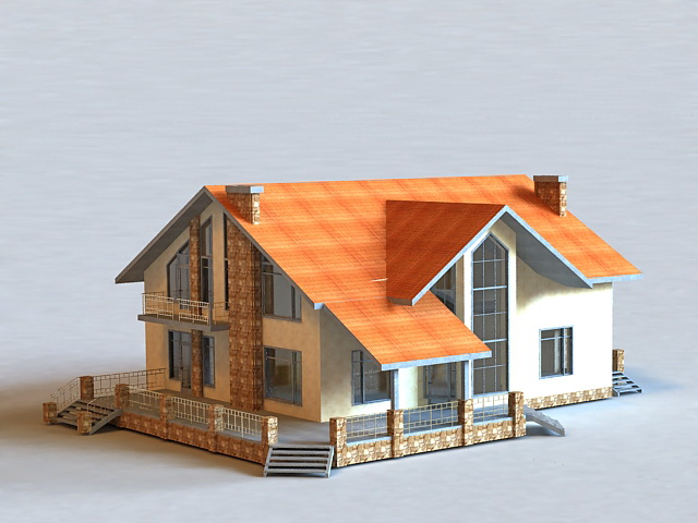 Australian Style House 3d model