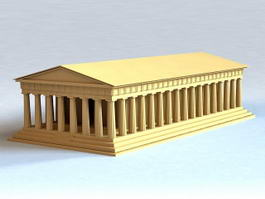 Ancient Roman Building 3d model