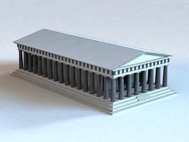 Ancient Roman Building 3d model - CadNav