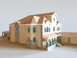 Spanish House Buildings 3d model