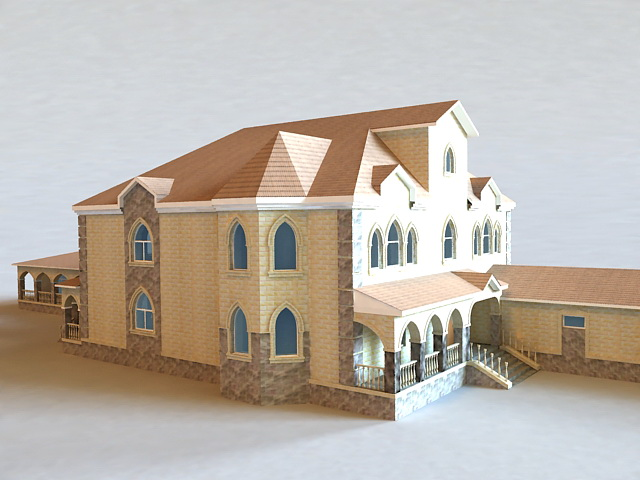 Spanish House Buildings 3d model