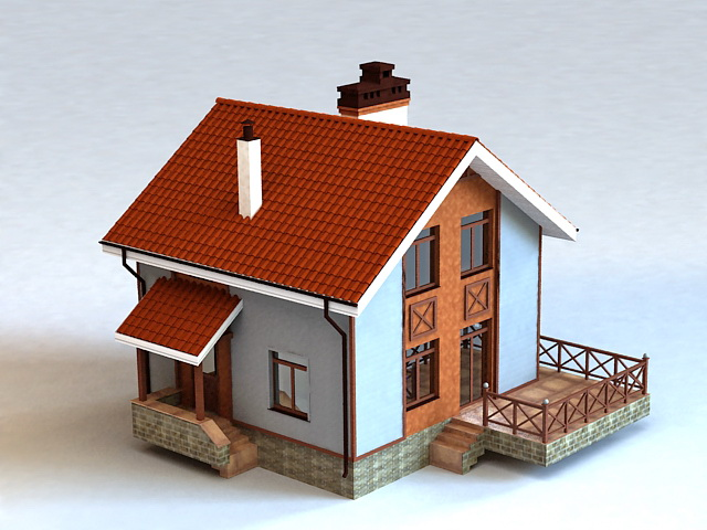 Rustic Country House 3d model