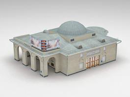 Metro Park Building 3d model