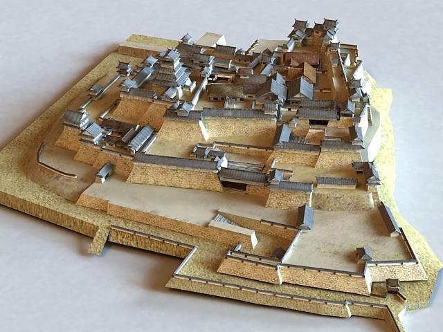 Ancient China Castle 3d model