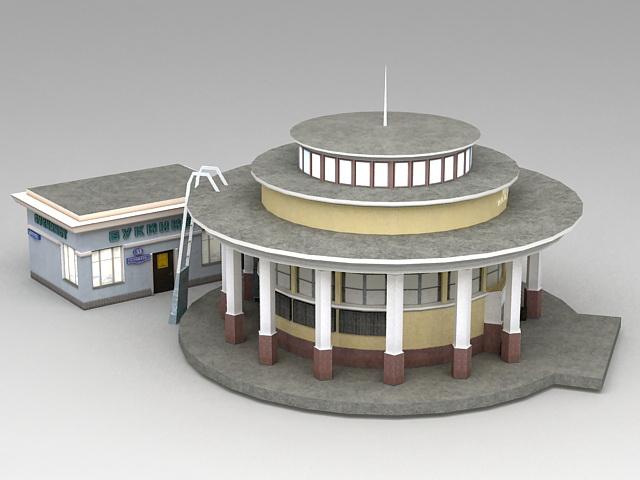 Metro Train Station Exterior 3d Model 3ds Max Files Free Download Modeling 38421 On Cadnav
