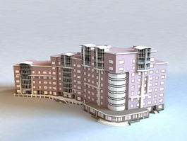 Commercial Building Complex 3d model
