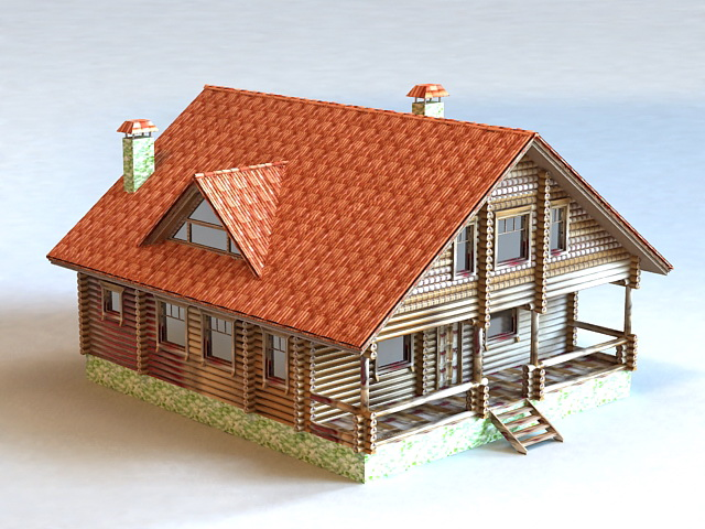 Country House Design 3d model