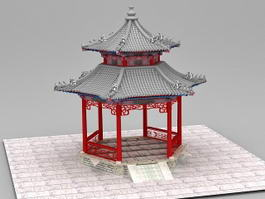 Ancient Pavilion Chinese Traditional Architecture 3d model