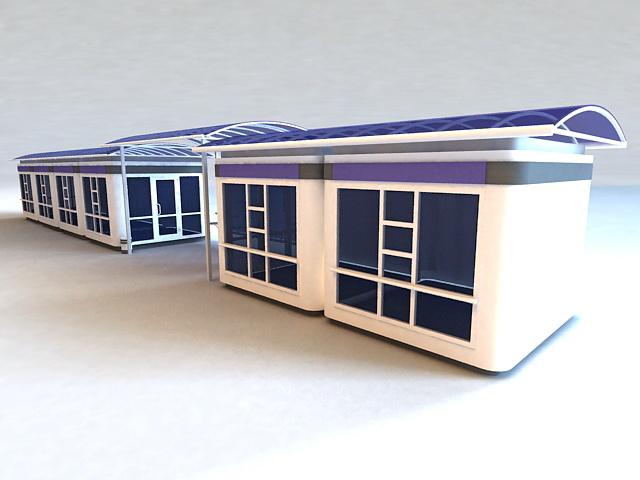 Bus Stop Shelters 3d model